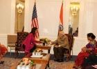 Narendra Modi meets Congresswoman Tulsi Gabbard