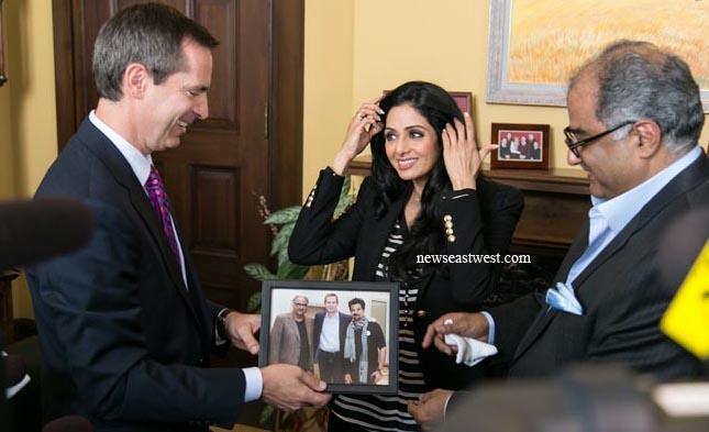 Premier McGuinty charmed by Sridevi
