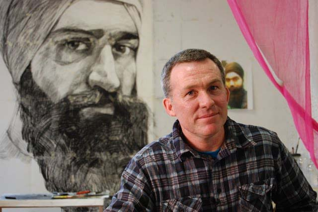 Daniel Connell: An Aussie artist who uses his brush in support of Sikh taxi drivers