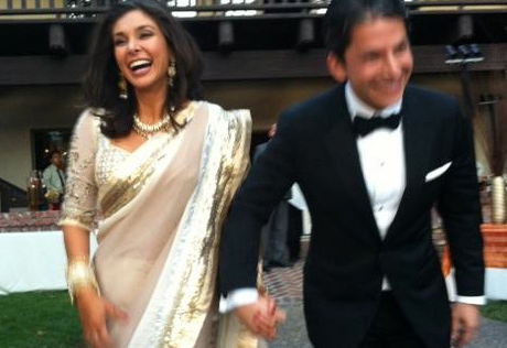 Lisa Ray, husband on honeymoon