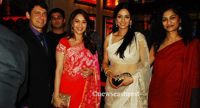 Laddoos flow, Sridevi glows at premiere of English Vinglish