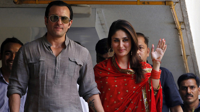 Saif and Kareena walks out on the balcony as a new couple