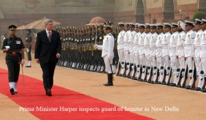 Stephen Harper inspects guard of honour