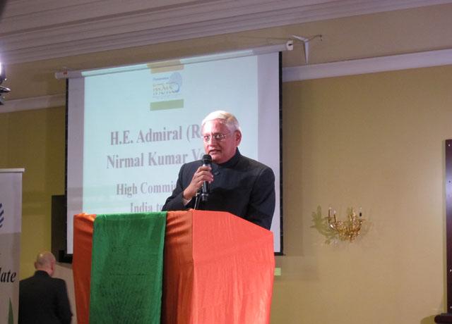 Indian High Commissioner Admiral (Redt) Nirmal Verma