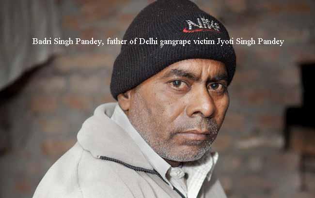Badri SinghPandey, father of Delhi gangrape victimndey copy
