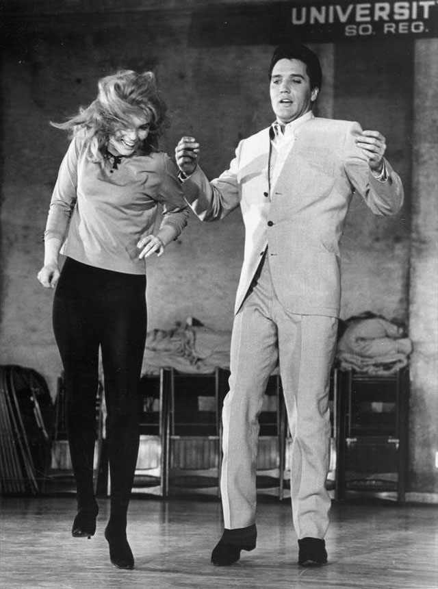 Elvis and Ann during the filming of Viva Las Vegas