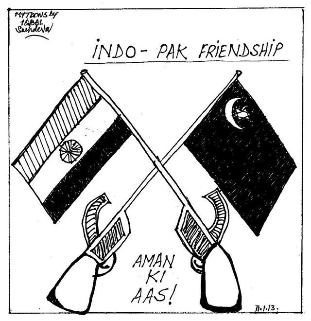 MYTOONS Indo-Pak Friendship