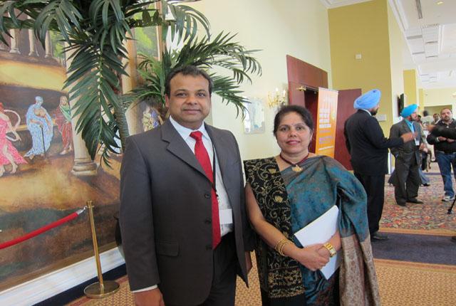 Panorama India chief JIbanjit Tripathy with Usha
