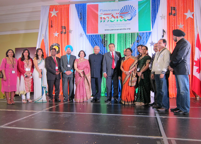Panorama India team with the high commissioner and the consul general
