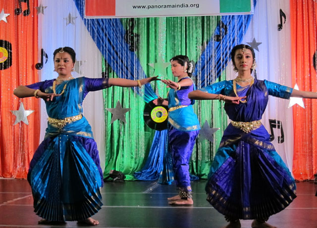 Dance performers in full flow