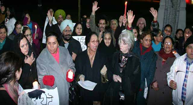 An earlier vigil in Surrey for the victim