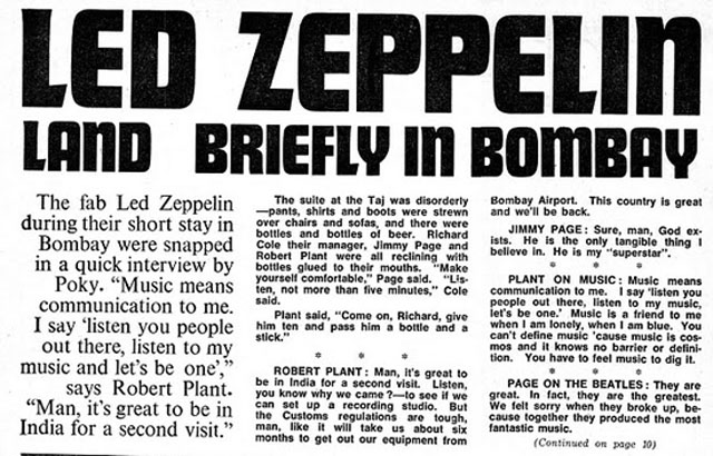 When Led Zeppelin came to Bombay (now Mumbai)