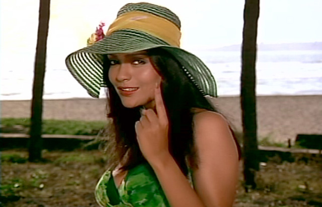Actress Zeenat Aman at her prime in the early 1970s