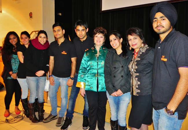 DC Punjabis with Shashi Bhatia (second from right)