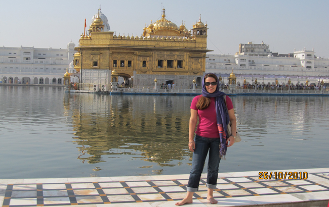 Brazilian journalist Florencia Costa says the Golden Temple is the best religious place she visited