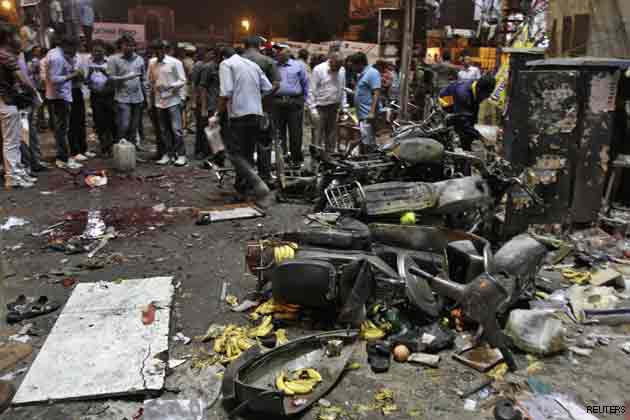 Hyderabad blast scene