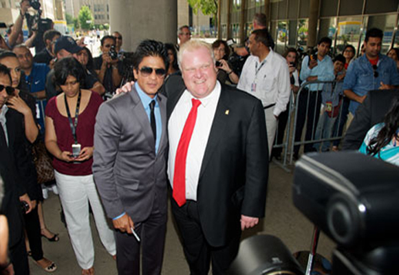 Shahrukh Khan with Toronto Mayor Rob Ford in 2011
