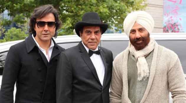 Bobby-Dharmendra-Sunny on the sets of Yamla Pagla Deewana-2