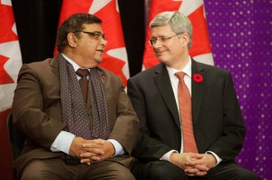 Deepak Obhrai with former Prime Minister Stephen Harper