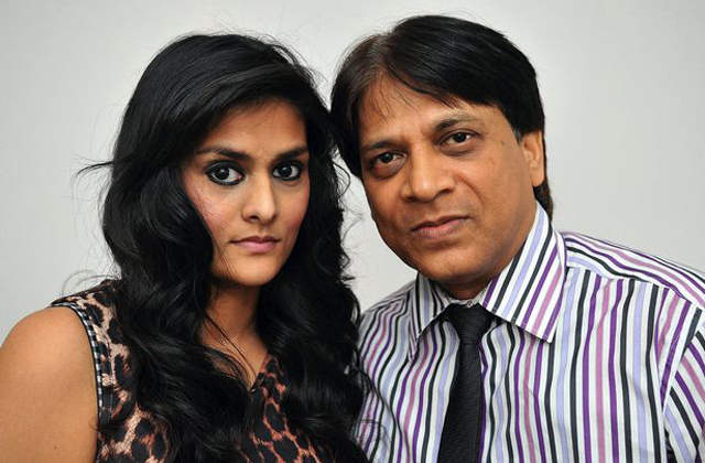 Prakash Patel with daughter Devyani