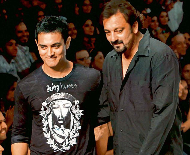 Aamir Khan and Sanjay Dutt seen together
