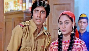 Jaya seen with Amitabh in Zanjeer (1973)