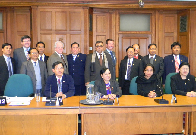 Deepak Obhrai with Burmese MPs