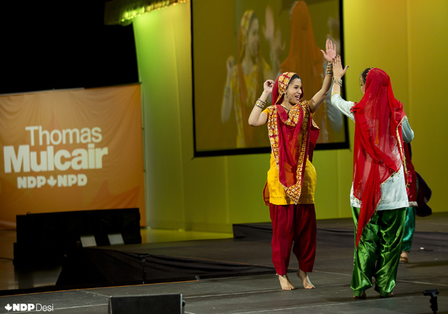 Punjabans getting set for Giddha as the NDP convention celebrated Vaisakhi in Montreal.