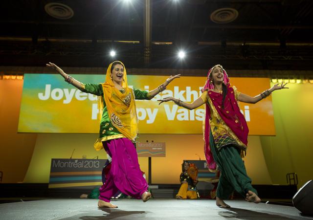 Gidha performance at NDP Vaisakhi celebrations in Montreal