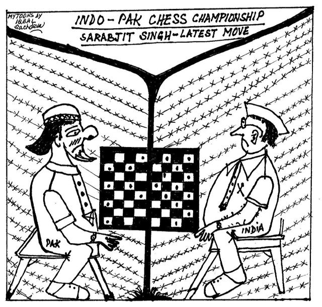 MYTOONS Indo-Pak Chess - Sarabjit Singh