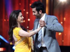 Madhuri Dixit with Ranbir Kapoor