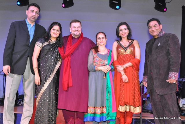 Madan Kulkarni (founder of Dhrishti), Manasi Paranjape (Playback singer), Namrata Seth (Nitin Mukesh Sister Playback singer), Nitin Mukesh (Playback singer and illustrious son of a legendary father Mukesh), Shebani Kulkarni (the co-founder of Dhrishti), Mayur Ganger (National Promoter of Nitin Mukesh tour)