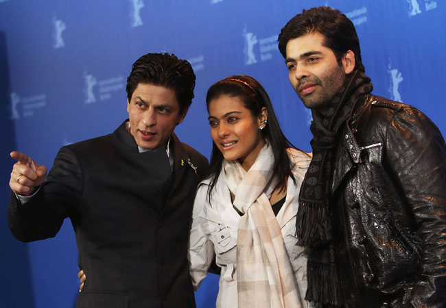 Shahrukh and Karan Johan sen with Kajol