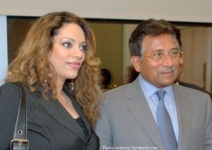 Sonia Ahmed with Musharraf