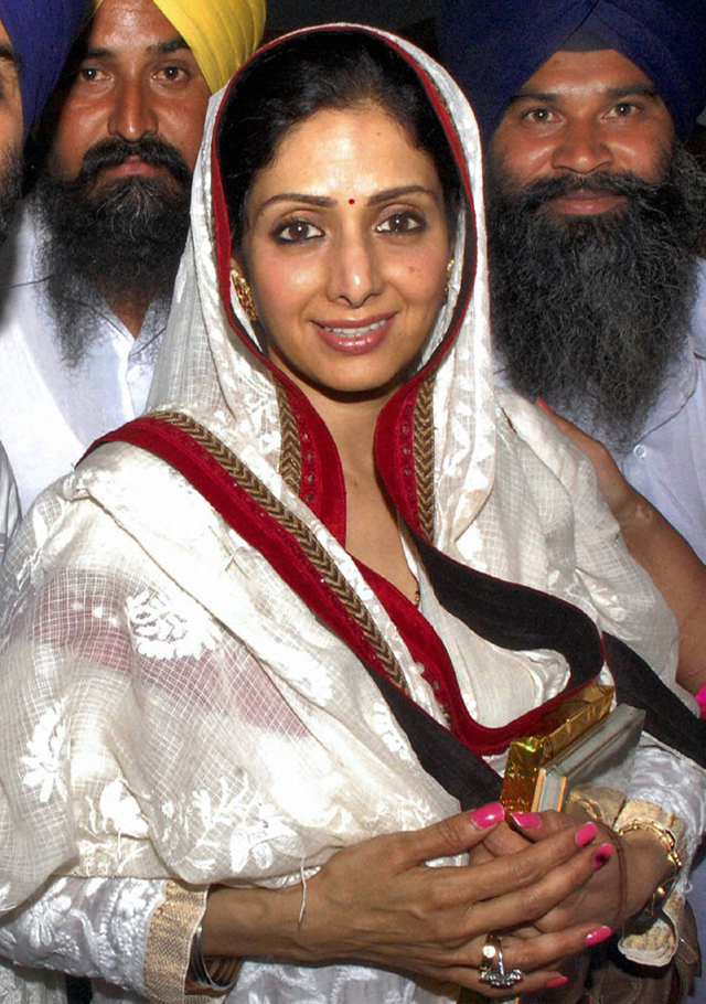 Sridevi during her recent visit to the Golden Temple in Amritsar