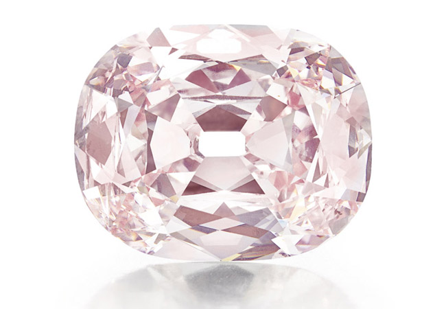 The Princie Diamond that sold for about $40 million at Christie's auction in New York