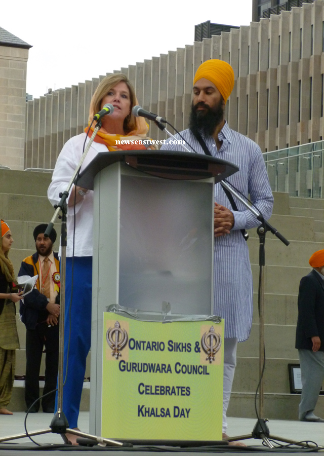 The stage at Nathan Phillips Square before the Vaisakhi proceedings began.
