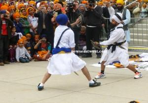 A brief show of Sikh martial arts at the Toronto Vaisakhi Parade.