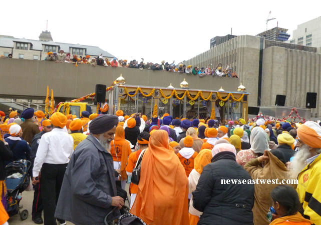 Toronto's annual Vaisakhi or Khalsa Parade culminates into a big rally at the city's herat at Nathan Phillips Square.
