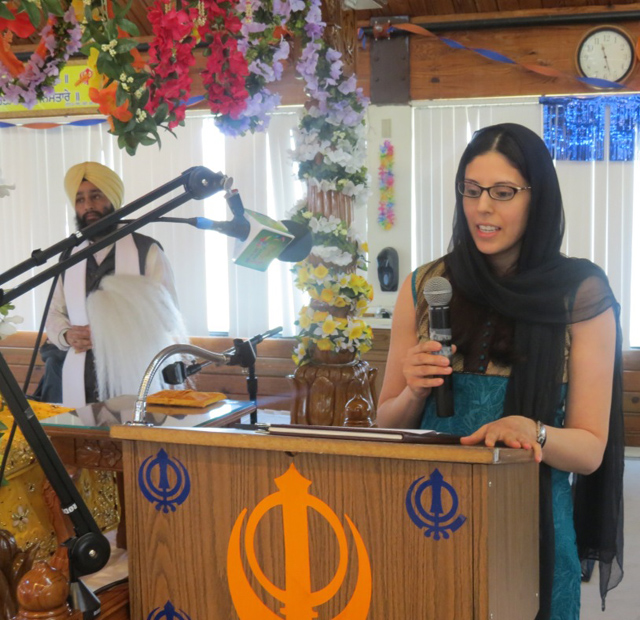 Amrith Kaur Aakre, Assistant State Attorney for Cook County in Illinois, speaking on the occasion.