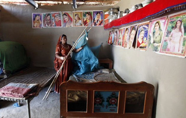 Veero Kohli, seen in her house on the outskirts of the city of Hyderabad in Pakistan, is the first Hindu woman to contest elections in Pakistan