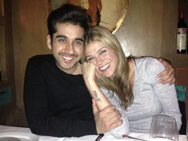 Toronto actor Vinay Virmani gets cozy with Dr Cabbie co-star Adriene Pallicki!