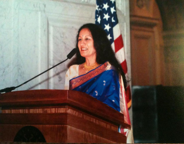 In 2004 when the National Endowment for the Arts honoured her for her lifetime achievement in Kathak.