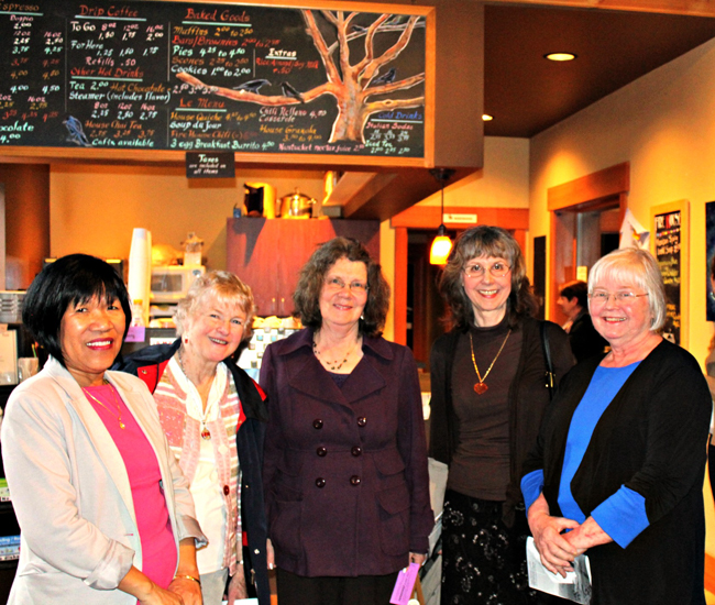 "Intermission ""Dance & Word"" – Aida Bhargava, Bernice Lever, Janet Oakley, Ashok Bhargava,  Betty Scott and Carla Shafer."