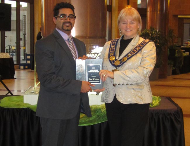 Vishal Arora honoured by the City of Brampton with Long Term Service Award