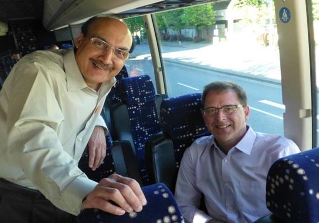 raj chouhan (left) retains his seat