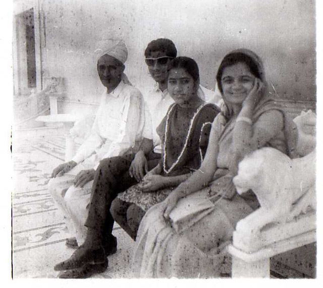 In this old, rather grainy picture, Ashok's father `Bauji' is seen in the extreme left.