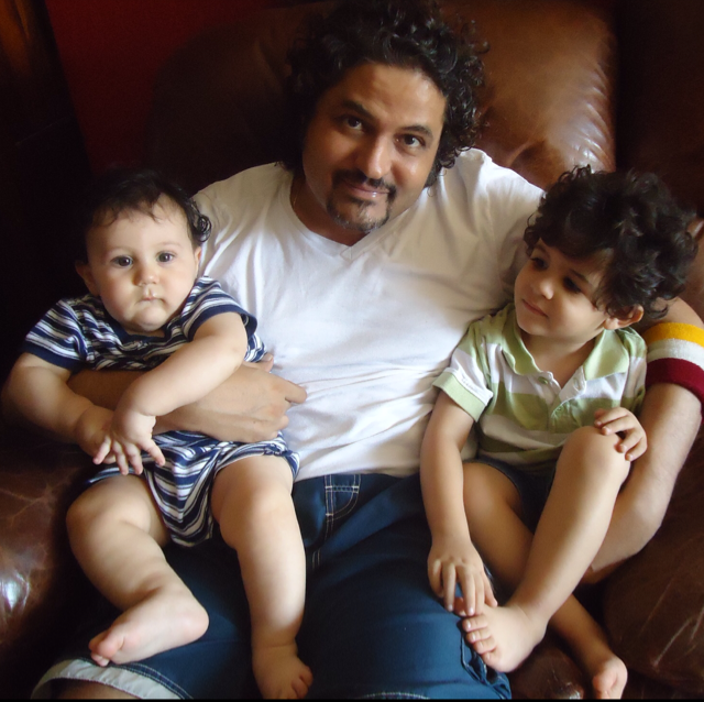 HIS INSPIRATION: Kaizad Gustad with his two children