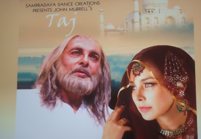 Lisa Ray and Kabir Bedi in the upcoming show Taj in Mississauga