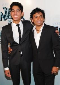 Manoj Night Shyamalan with Slumdog Millionaire actor Dev Patel